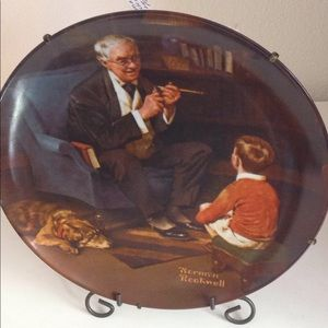 Other - Norman Rockwell - 'The Tycoon' Plate